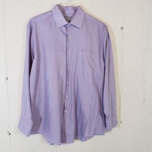 Van Heusen fitted 16.5 32/33 purple dress shirt